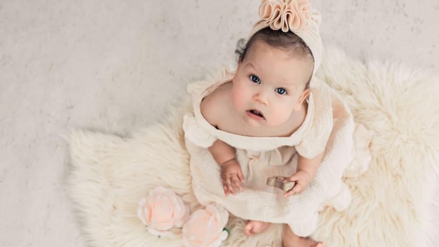 baby tijdens sittershoot
